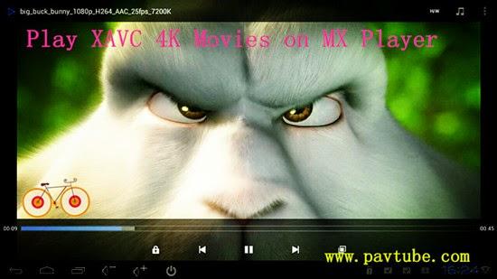 Import XAVC to MX Player--xavc video xoncerter Mx_player