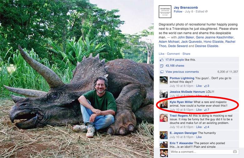 Dinosaur Hoax - Dinosaurs Never Existed! Steven-spielberg-dinosaur-facebook-comments
