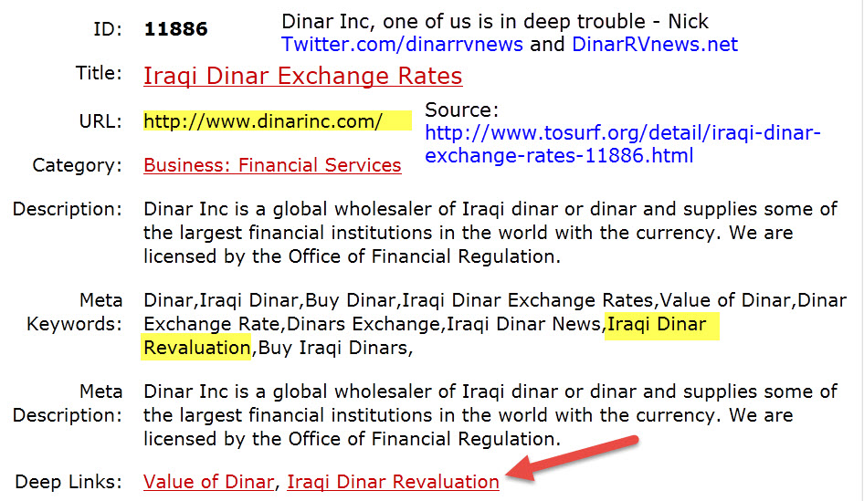 Dinar Inc / Xchange of America NOT BBB ACCREDITED & Secret Websites Dinarinc-currency-profile-page