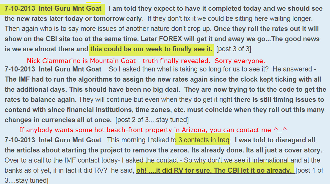 The MOUNTAIN GOAT GURU is proved to be a FRAUD Mnt-goat