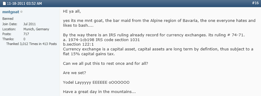 Siegel Name Has Origins In Bavaria - 2011-2013 Mnt Goat Posts - Google Ties Ken, Goat, Dr Clarke Together 2011-1118-Mnt-Goat-Bar-Maid-IRS-Capital-Gains