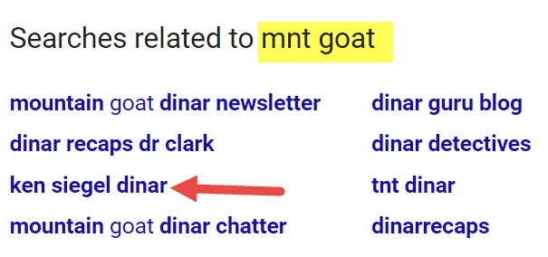 Siegel Name Has Origins In Bavaria - 2011-2013 Mnt Goat Posts - Google Ties Ken, Goat, Dr Clarke Together Searches-related-to-mnt-goat