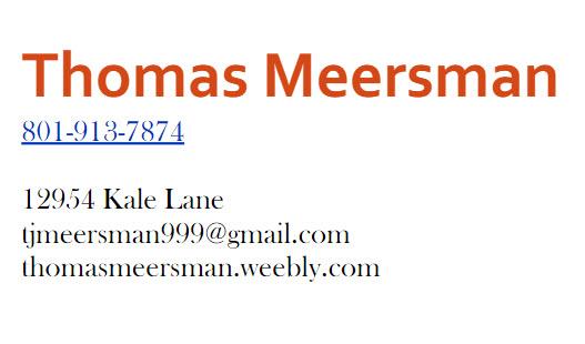 Contract Information For Mark Meersman PIF TopShelf Spguru Thomas-Meersman