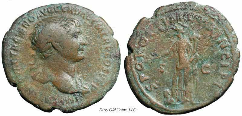As de Trajano.  Spes Traj127