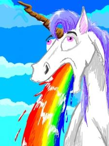 Fabrication de dragonne d'arc en Paracord Unicorn_vomit_rainbow