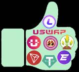 USWAP exchange descentralizado de la red TRON para hacer staking en POOLs y ganar recompensas en UME, EFT, USDT ... Ganas el 15% de lo que ganen tus referidos en cada POOL.