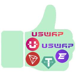 USWAP Exchange descentralizado para hacer staking y ganar recompensas en UME y EFT Manita-arriba_USWAP