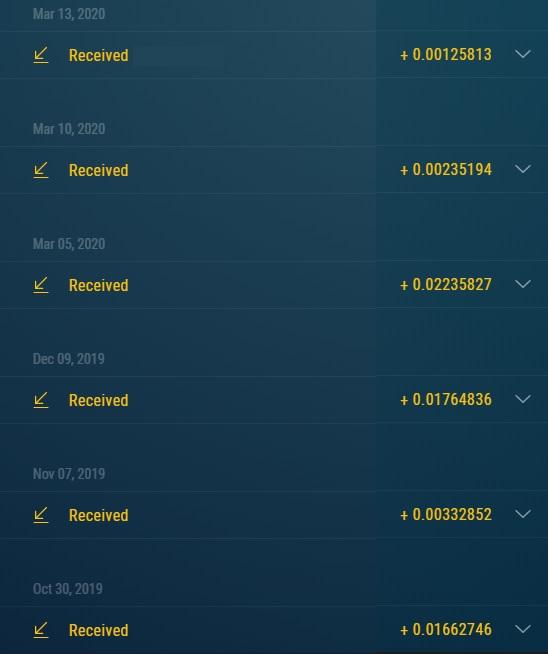 Comprobantes de pagos de los Bots de Telegram. Ya llevo 113 retiros directos a mi wallet. Retiros_bot_ZEC_-0