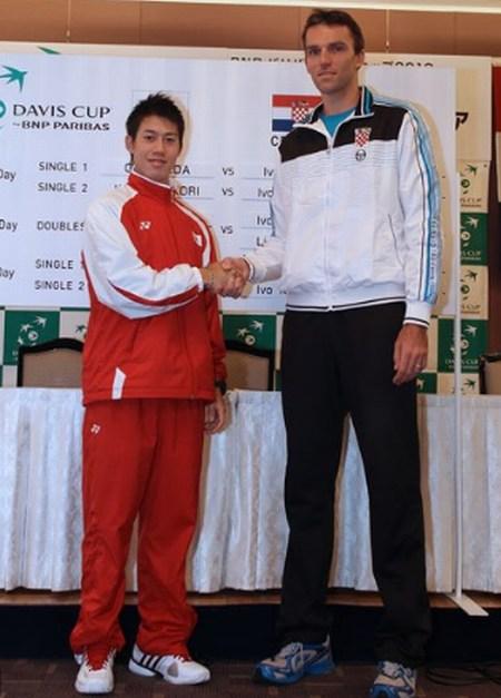 ¿Cuánto mide Kei Nishikori? - Altura - Real height Nishikori-Karlovic