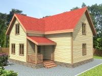 Проекты каркасных домов из бруса.  Proekt-D46_mini