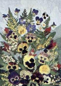 Картины из цветов Kar2
