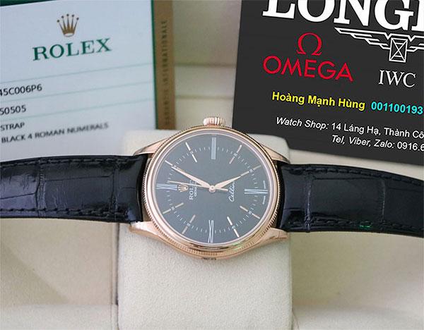 Shop Omega, Longines, FC, Rolex Malaysia 917USd giảm giá còn 2.800.000đ 43-Rolex-Cellini-39mm-50505-Black-Dial