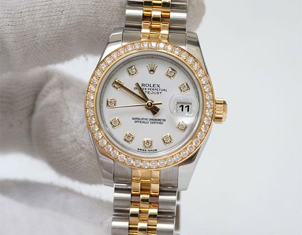 Shop Omega, Longines, FC, Rolex Malaysia 917USd giảm giá còn 2.800.000đ 46-Ladys-Rolex-Diamond-Demi
