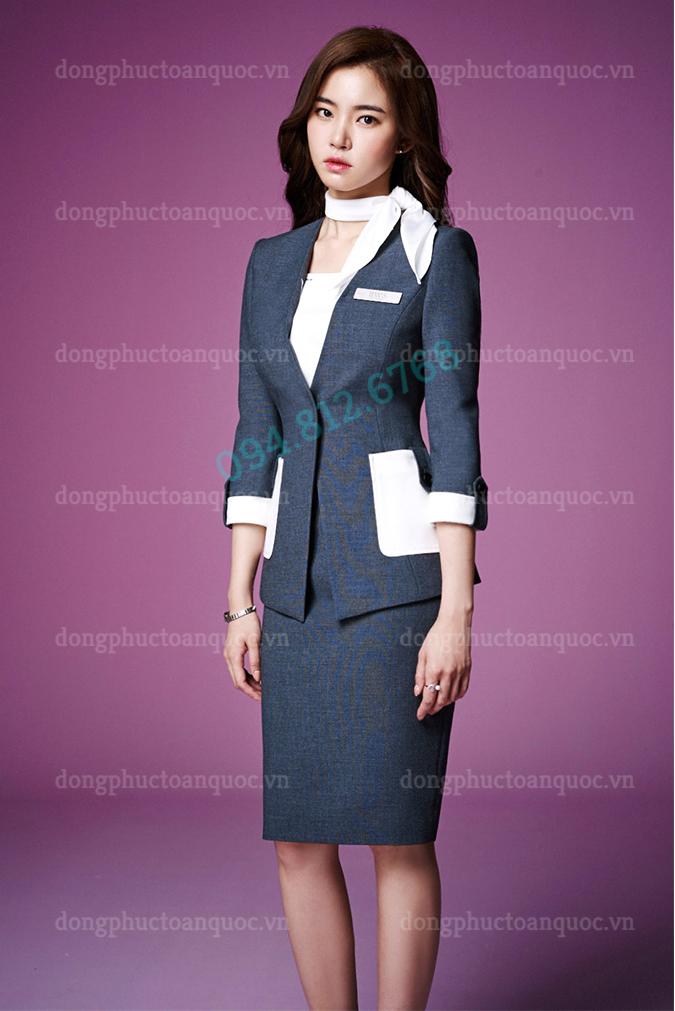 Mẫu đồng phục Lễ tân Khách sạn cao cấp, kiểu dáng đẹp, giá tốt 8g
