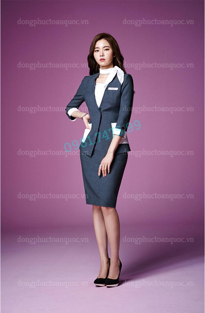 Mẫu đồng phục Lễ tân Khách sạn cao cấp, kiểu dáng đẹp, giá tốt 8k