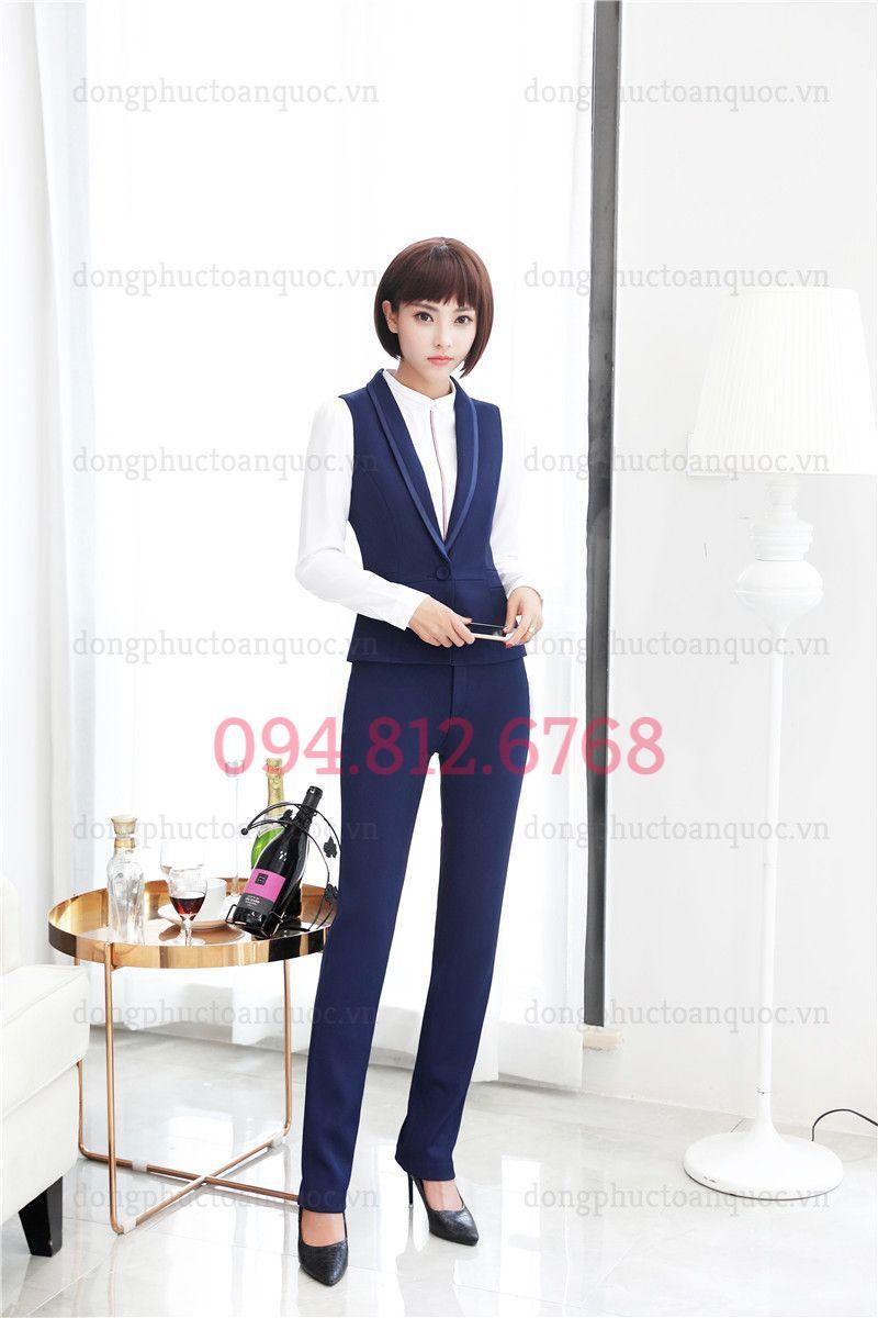 Mẫu đồng phục áo gile nữ văn phòng phong cách Hàn Quốc hiện đại 17t