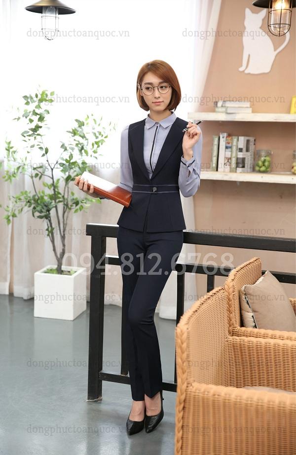 Mẫu áo gile nữ công sở cao cấp, form chuẩn chỉ có tại ĐỒNG PHỤC VIỆT  30a