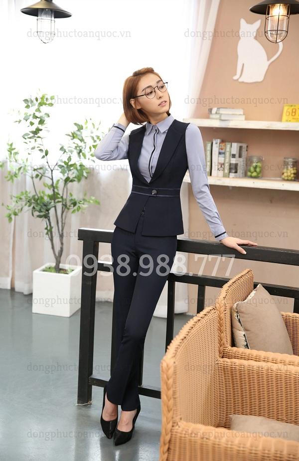 Mẫu áo gile nữ công sở cao cấp, form chuẩn chỉ có tại ĐỒNG PHỤC VIỆT  30f