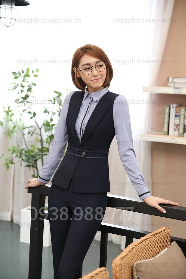 Mẫu áo gile nữ công sở cao cấp, form chuẩn chỉ có tại ĐỒNG PHỤC VIỆT  30g