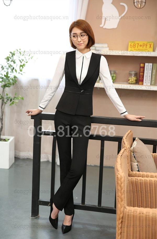 Mẫu áo gile nữ công sở cao cấp, form chuẩn chỉ có tại ĐỒNG PHỤC VIỆT  30s