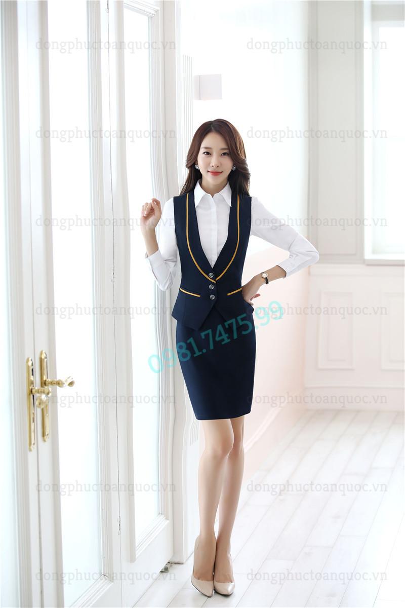 Mẫu đồng phục áo gile nữ thời trang, chất lượng và sự hài lòng 100% của khách hà 77a