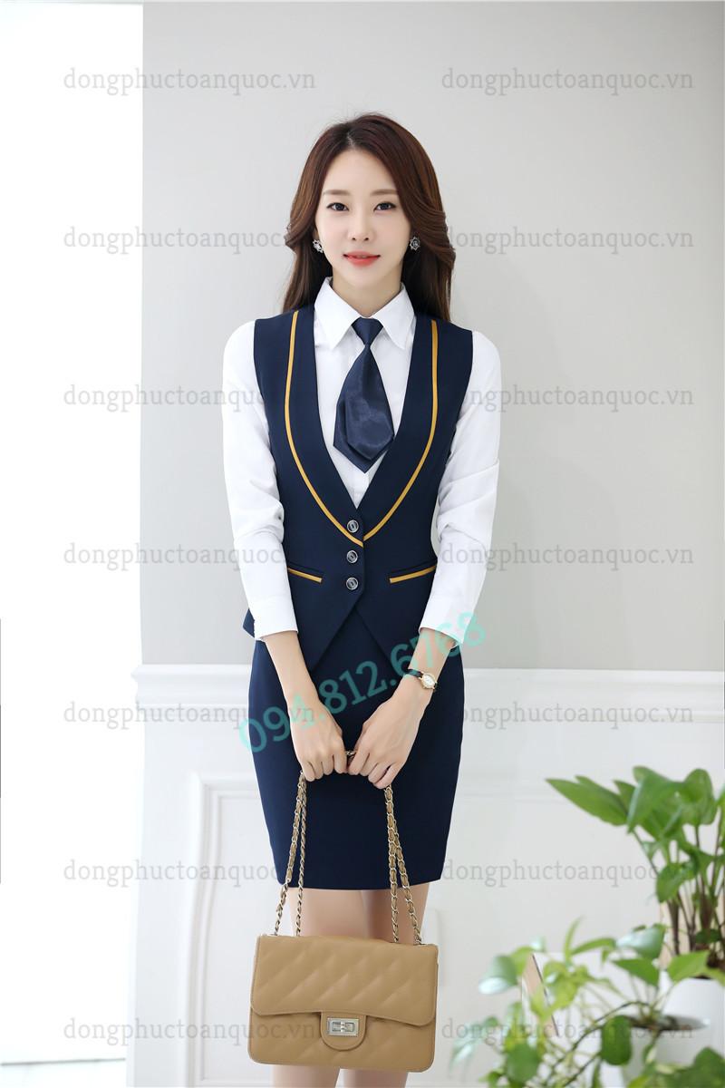 Mẫu đồng phục áo gile nữ thời trang, chất lượng và sự hài lòng 100% của khách hà 77l