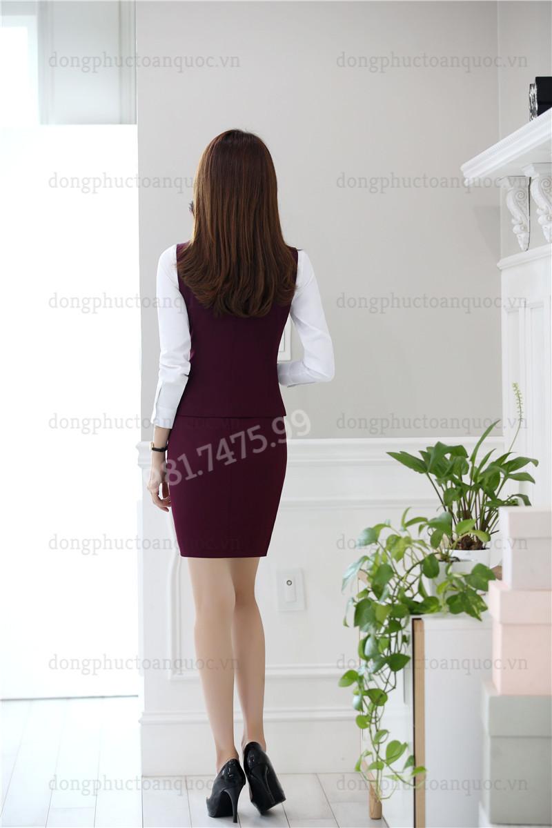 Mẫu đồng phục áo gile nữ thời trang, chất lượng và sự hài lòng 100% của khách hà 77s