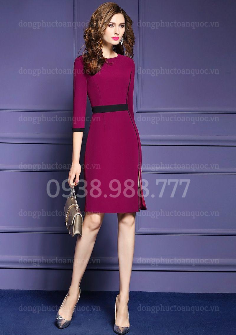 Mẫu váy liền văn phòng Thu Đông đẹp nhất của VIỆT ĐỒNG PHỤC 10n