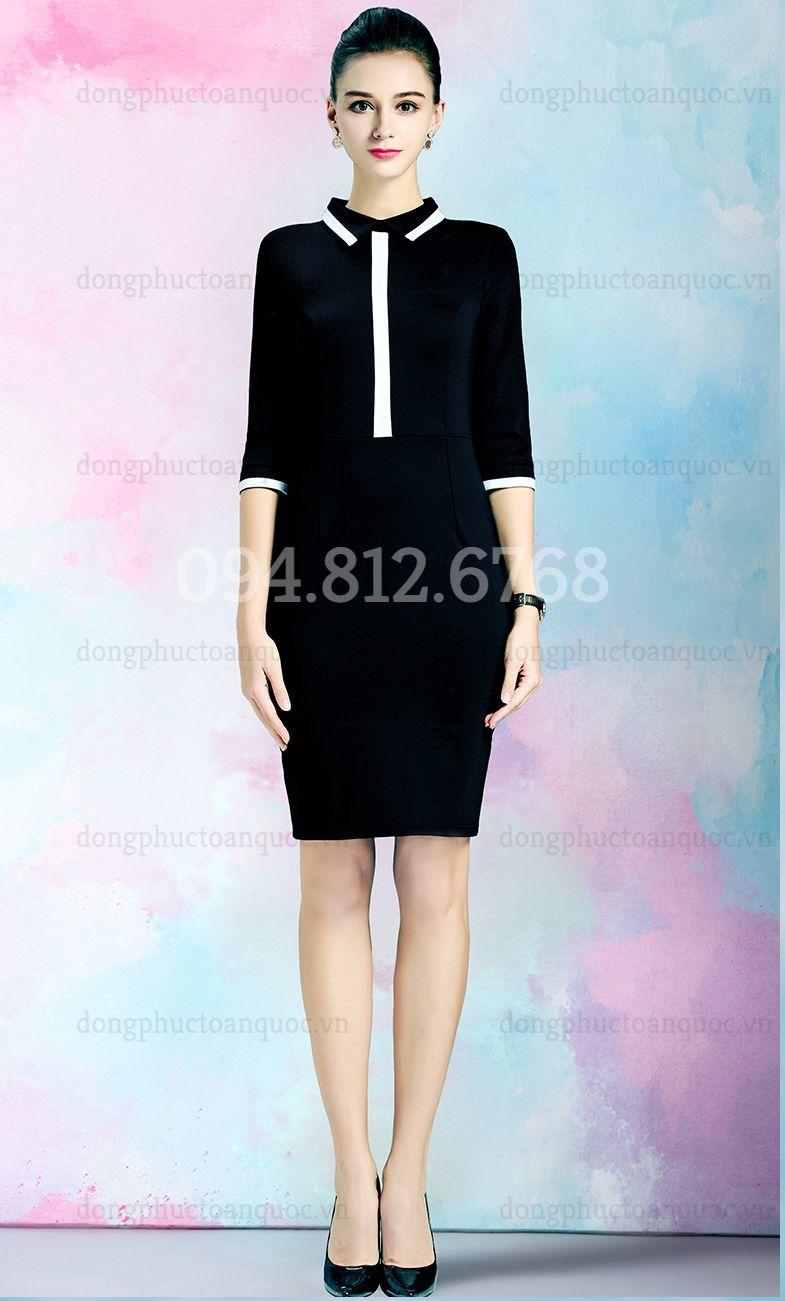 Mẫu váy liền đồng phục  giá bình dân, giúp nàng văn phòng đẹp mọi nơi  20%20(4)