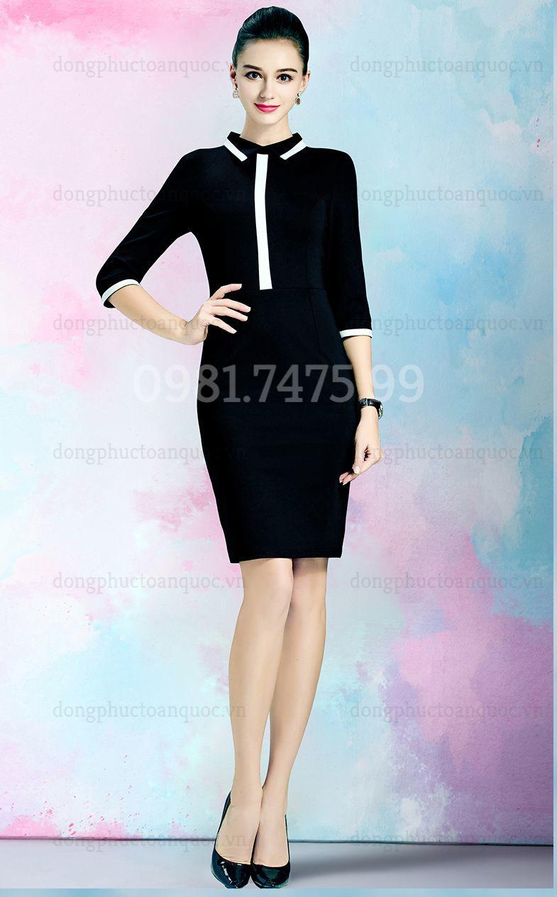 Mẫu váy liền đồng phục  giá bình dân, giúp nàng văn phòng đẹp mọi nơi  20%20(5)