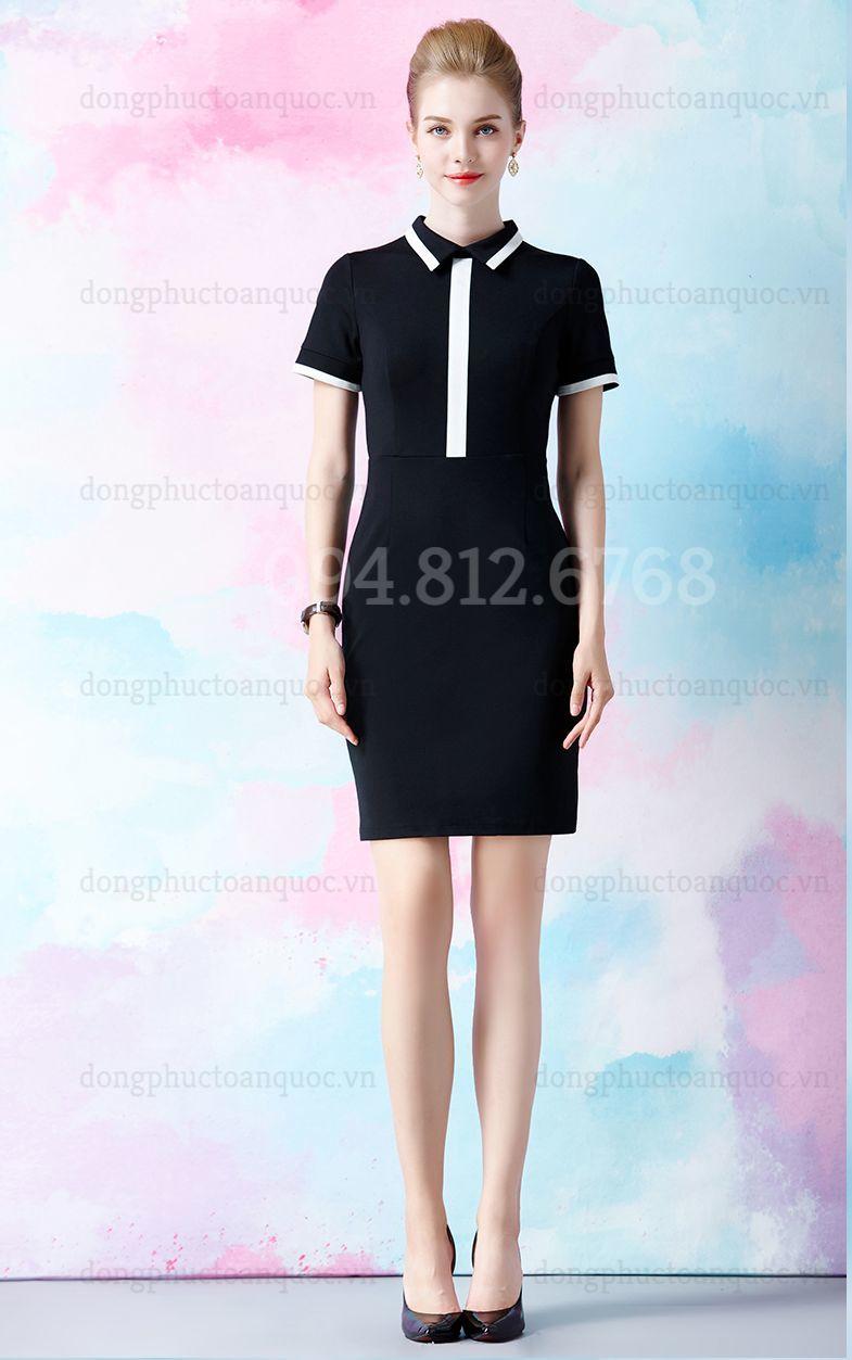 Mẫu váy liền đồng phục  giá bình dân, giúp nàng văn phòng đẹp mọi nơi  20%20(6)