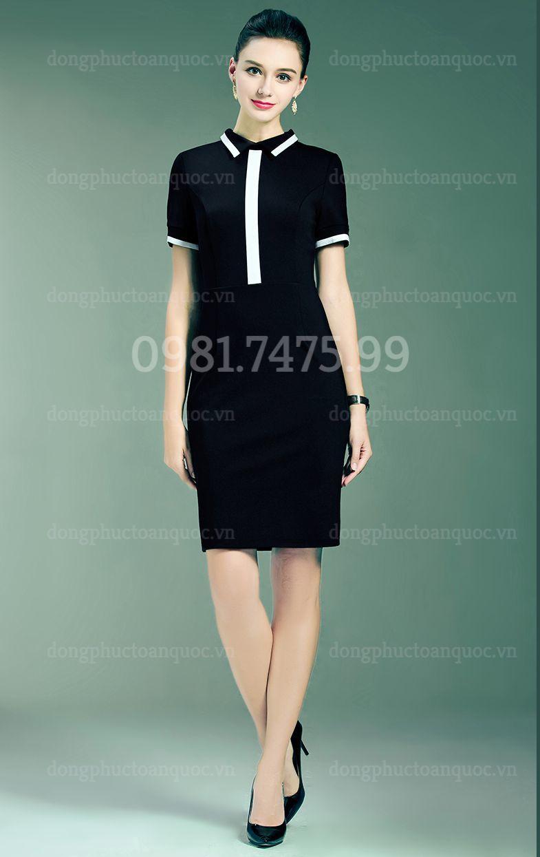 Mẫu váy liền đồng phục  giá bình dân, giúp nàng văn phòng đẹp mọi nơi  20%20(9)
