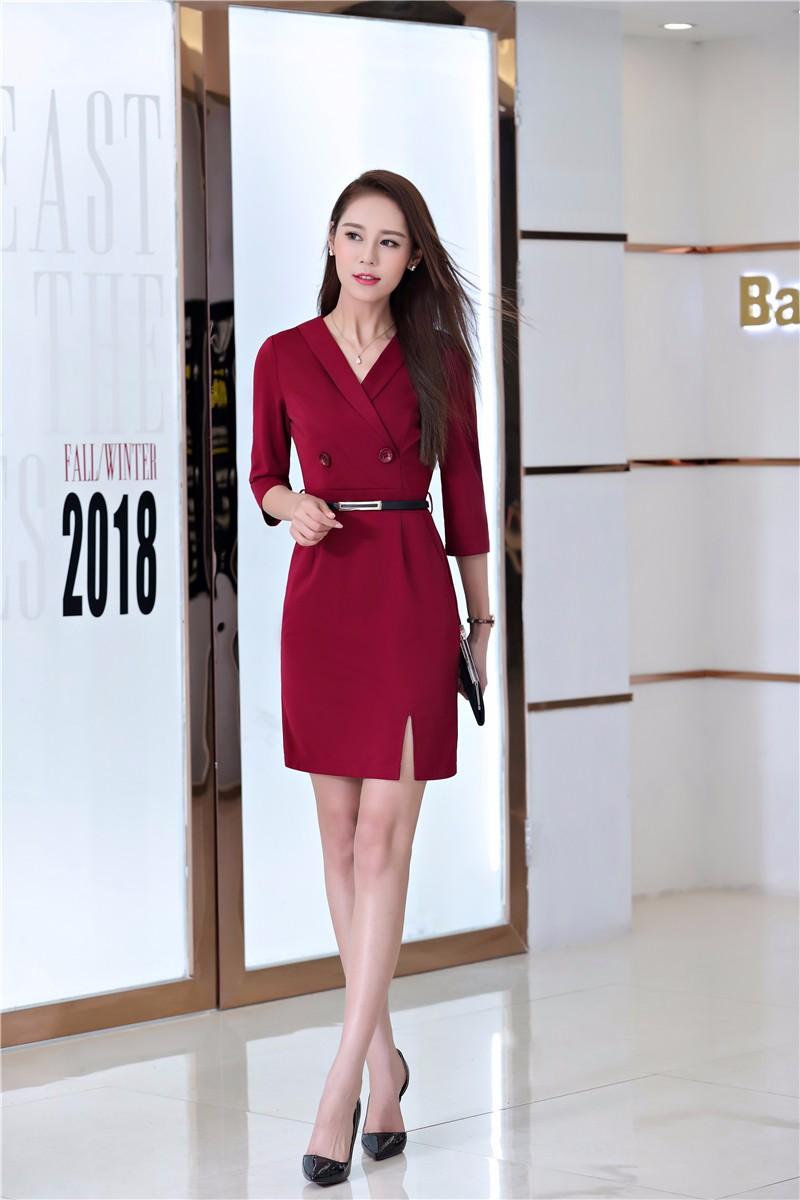 Mẫu đồng phục váy liền công sở thanh lịch, quyến rũ mọi ánh nhìn  24%20(3)