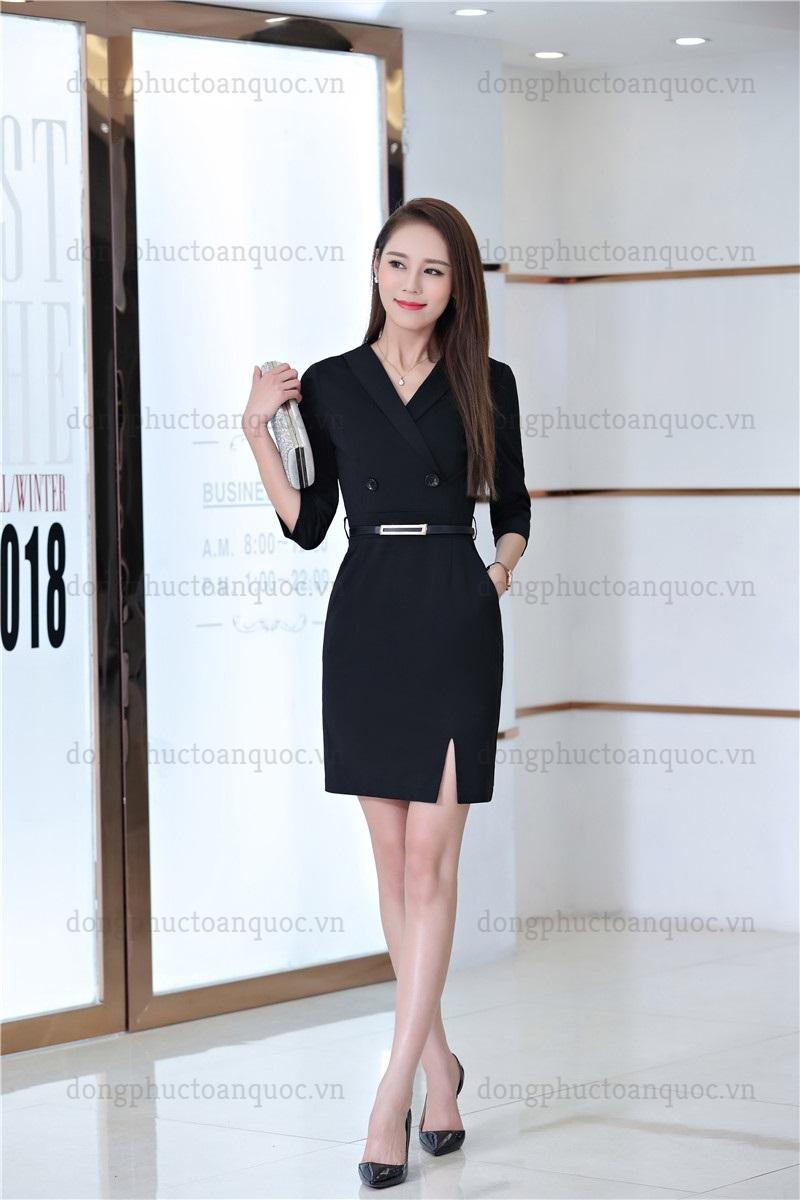 Mẫu đồng phục váy liền công sở thanh lịch, quyến rũ mọi ánh nhìn  24%20(5)
