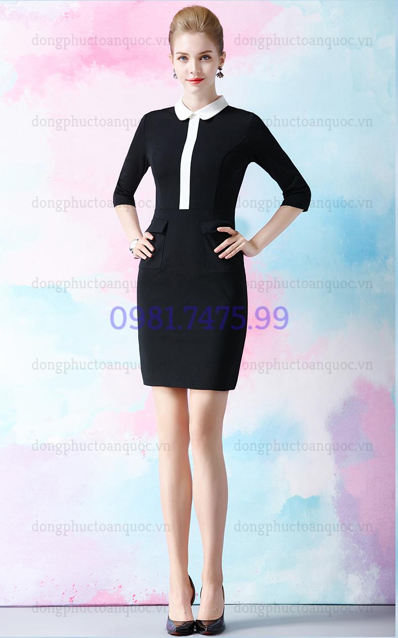 Mẫu đồng phục váy liền công sở Thu Đông đẹp nhất của VIỆT ĐỒNG PHỤC 4%20(10)