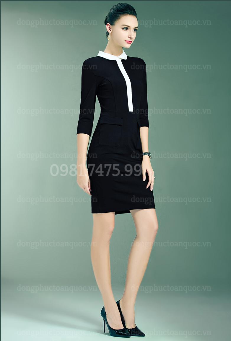 Mẫu đồng phục váy liền công sở Thu Đông đẹp nhất của VIỆT ĐỒNG PHỤC 4%20(5)