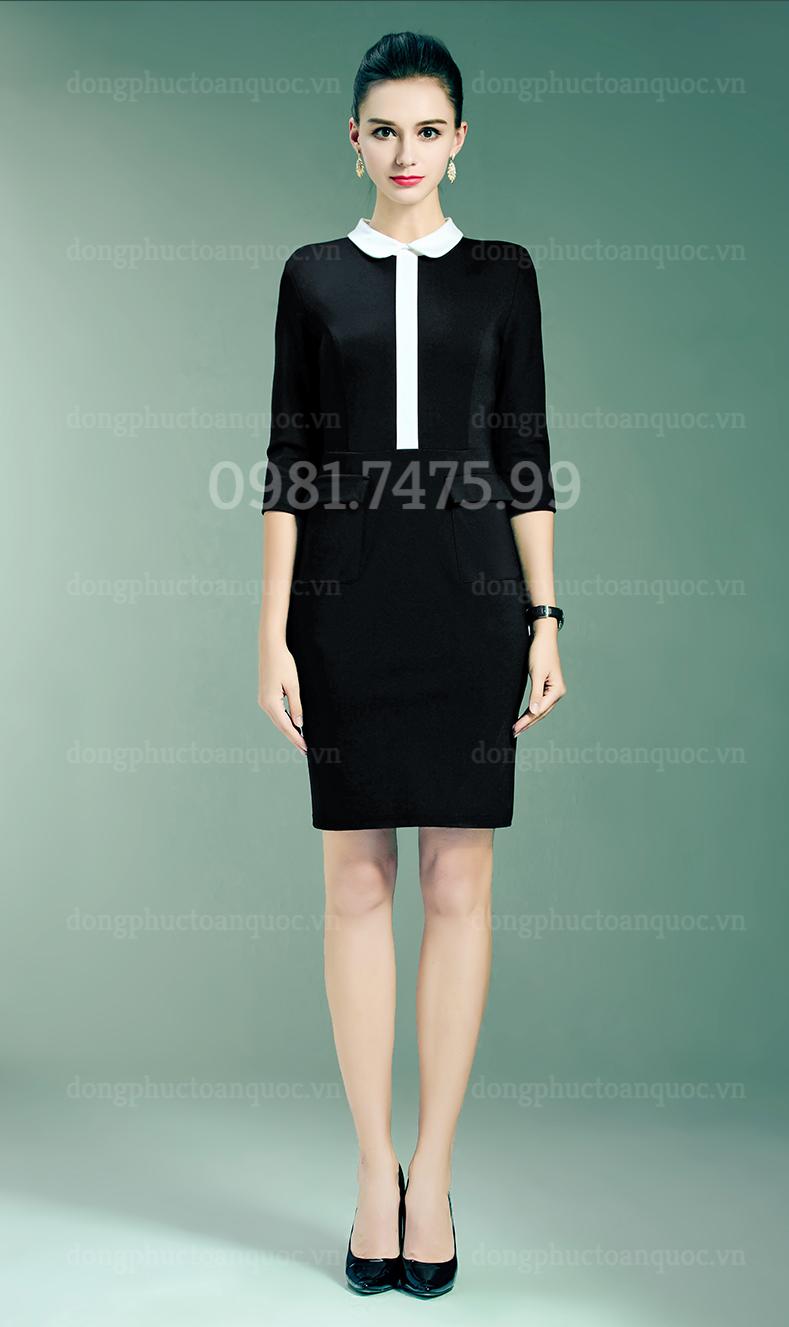 Mẫu đồng phục váy liền công sở Thu Đông đẹp nhất của VIỆT ĐỒNG PHỤC 4%20(7)