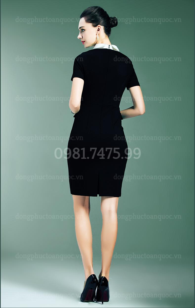 Mẫu đồng phục váy liền công sở Thu Đông đẹp nhất của VIỆT ĐỒNG PHỤC 4%20(9)