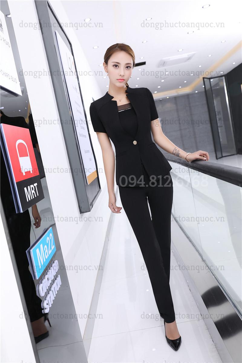 Mẫu đồng phục áo vest nữ  chất lượng, chuyên nghiệp 56e