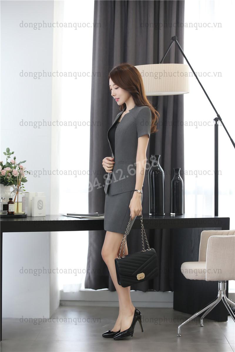 Mẫu đồng phục áo vest nữ  chất lượng, chuyên nghiệp 56w