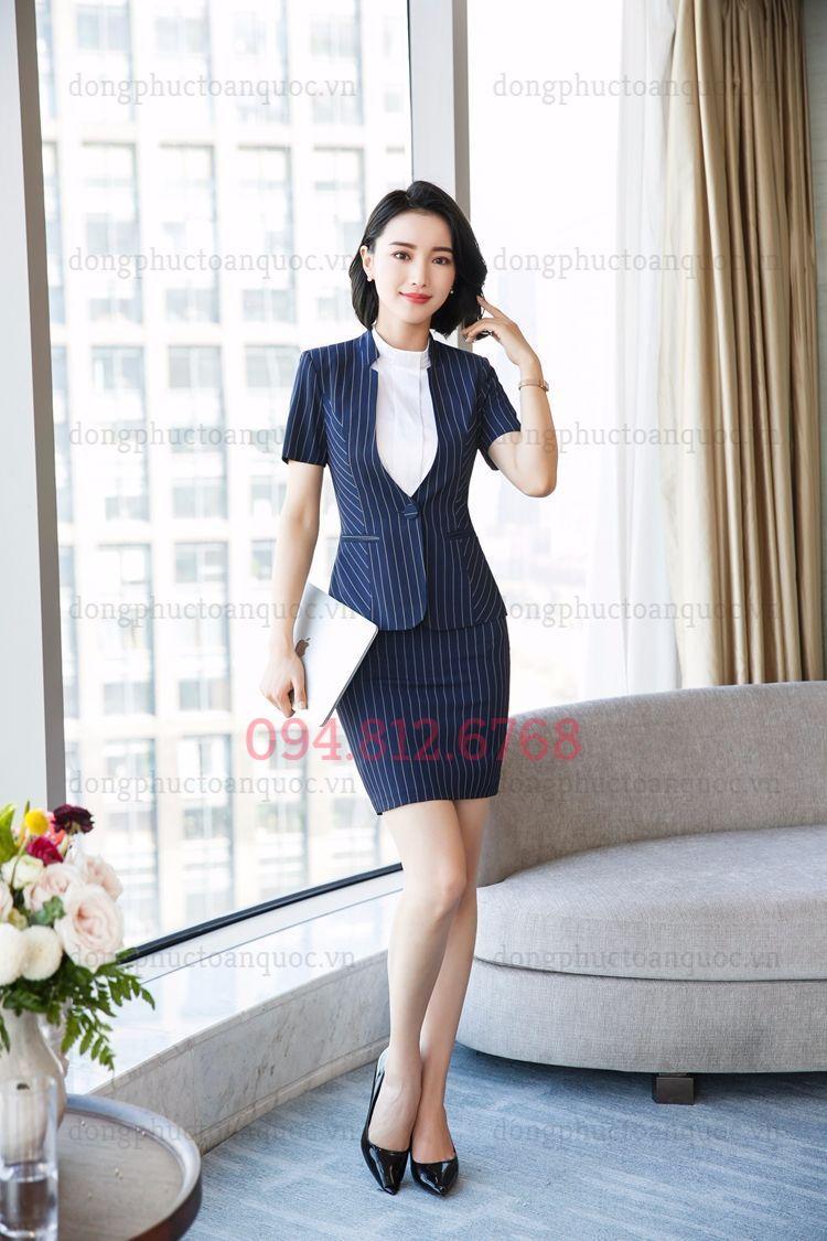 Mẫu vest nữ văn phòng thời trang giúp phái đẹp tự tin và thời thượng  74a