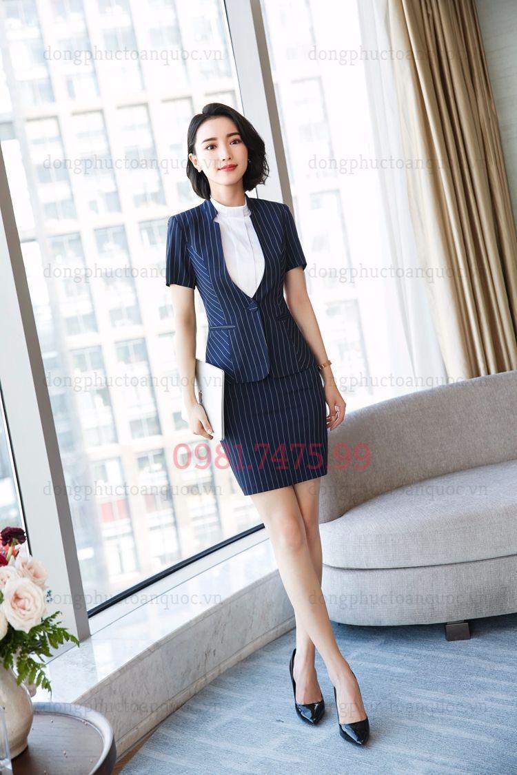 Mẫu vest nữ văn phòng thời trang giúp phái đẹp tự tin và thời thượng  74d