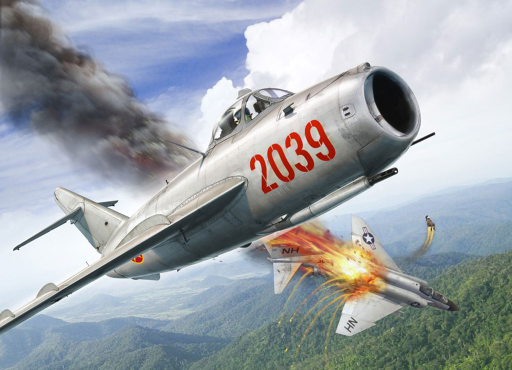 Base aérienne 708 - Meknès Mig-17-vs-f4
