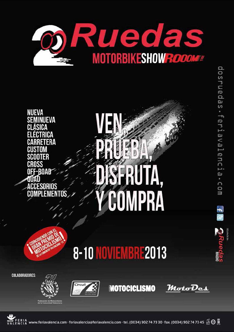 2 RUEDAS - Motorbike Showroom Valencia 8-10 noviembre 2013 Cartel_web