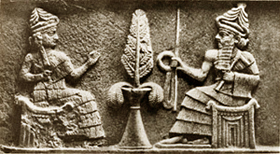 [Jeu] Association d'images - Page 11 Enki-And-Ninhursag-And-The-Tree-Of-Life