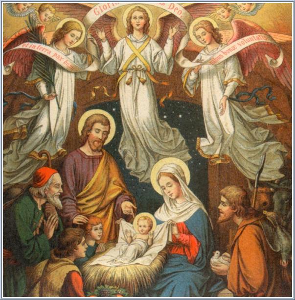 Saint Noël à tous! Jesus-nativity
