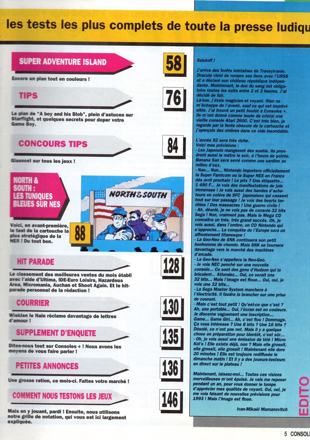 Votre top 5 des coups durs de l'histoire video-micro ludique - Page 3 Consoles%20%2B%20005%20-%20Page%20005%20%28janvier%201992%29
