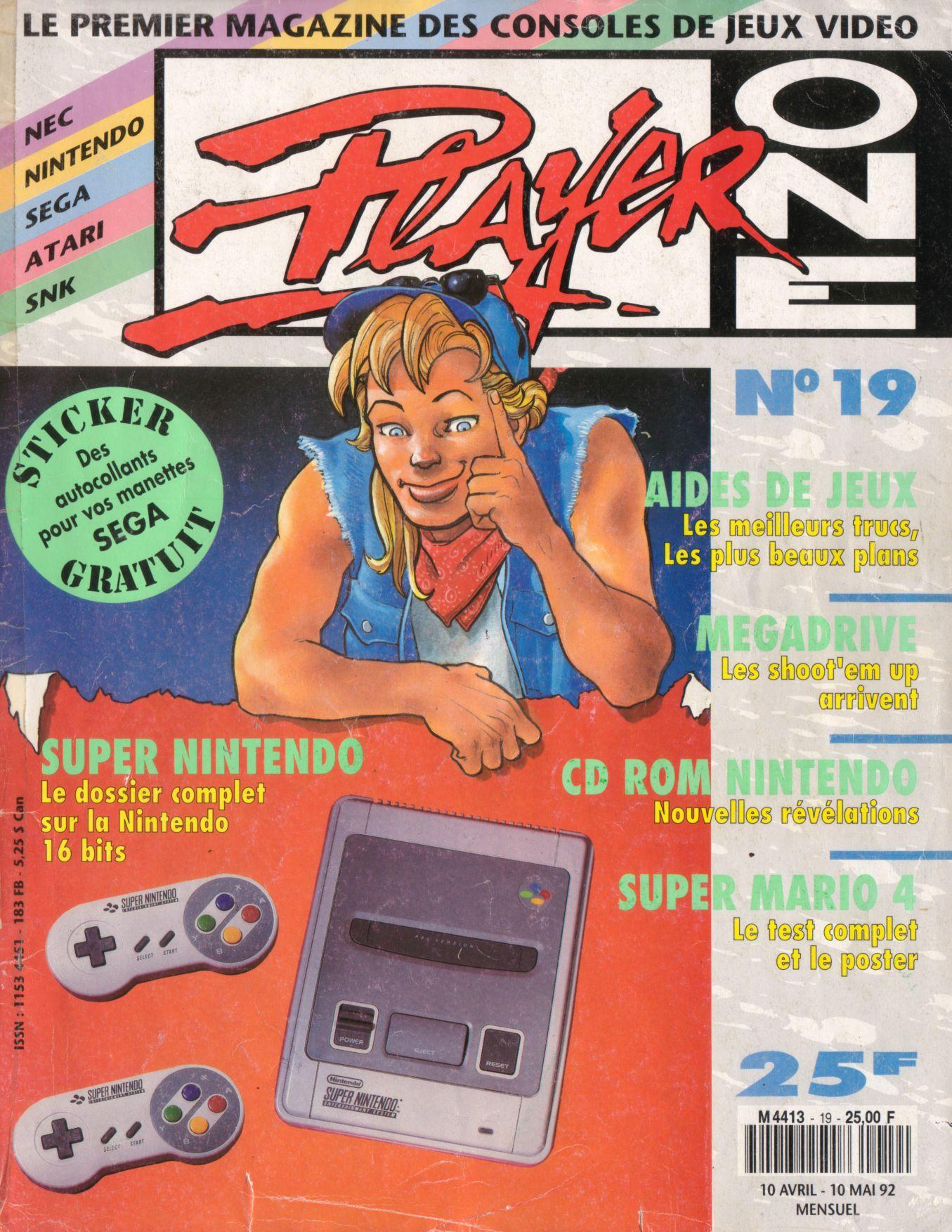 Les revues de jeux vidéos Player%20One%20019%20-%20Page%20001%20(1992-04)