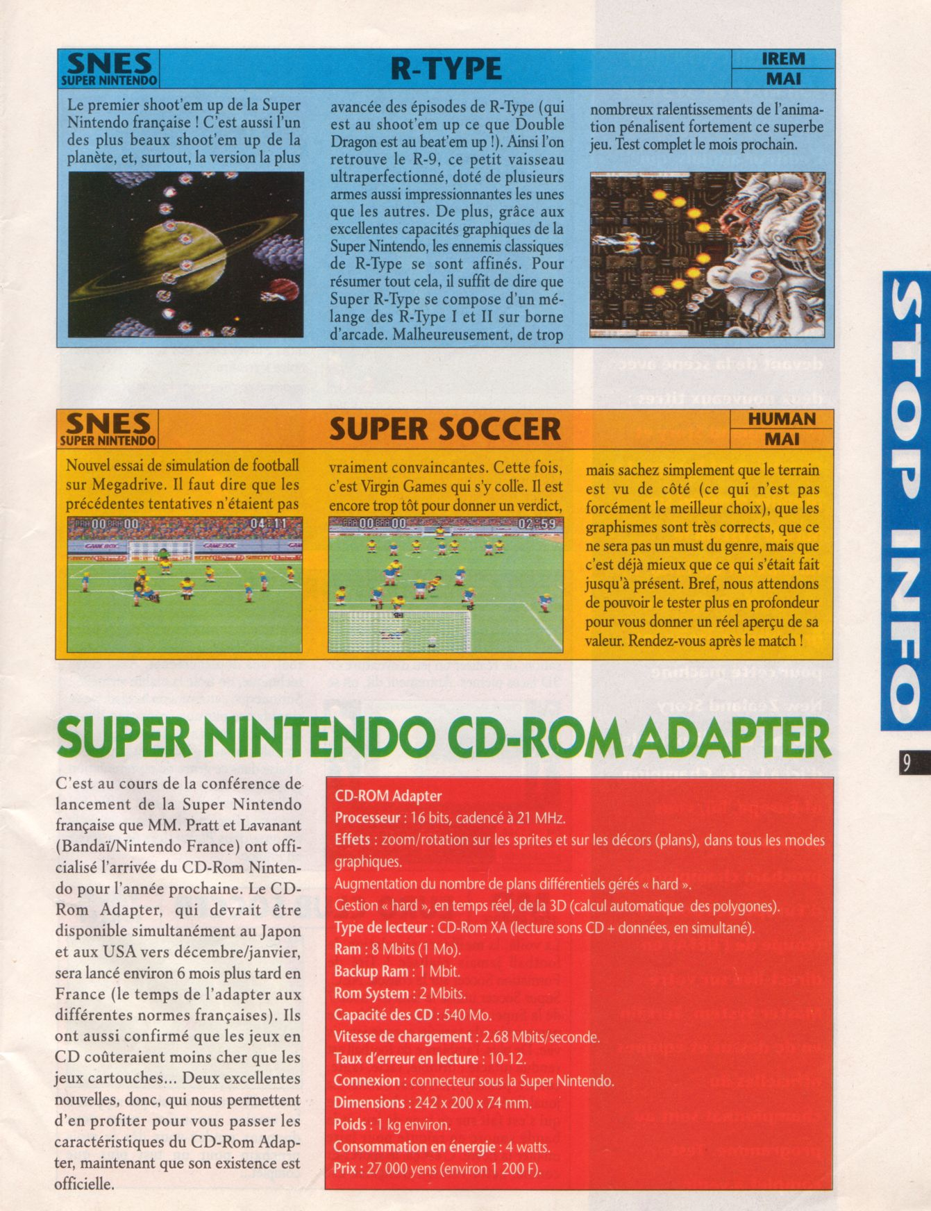 MEGADRIVE vs SUPER NINTENDO : Fight ! Player%20One%20020%20-%20Page%20009%20%281992-05%29