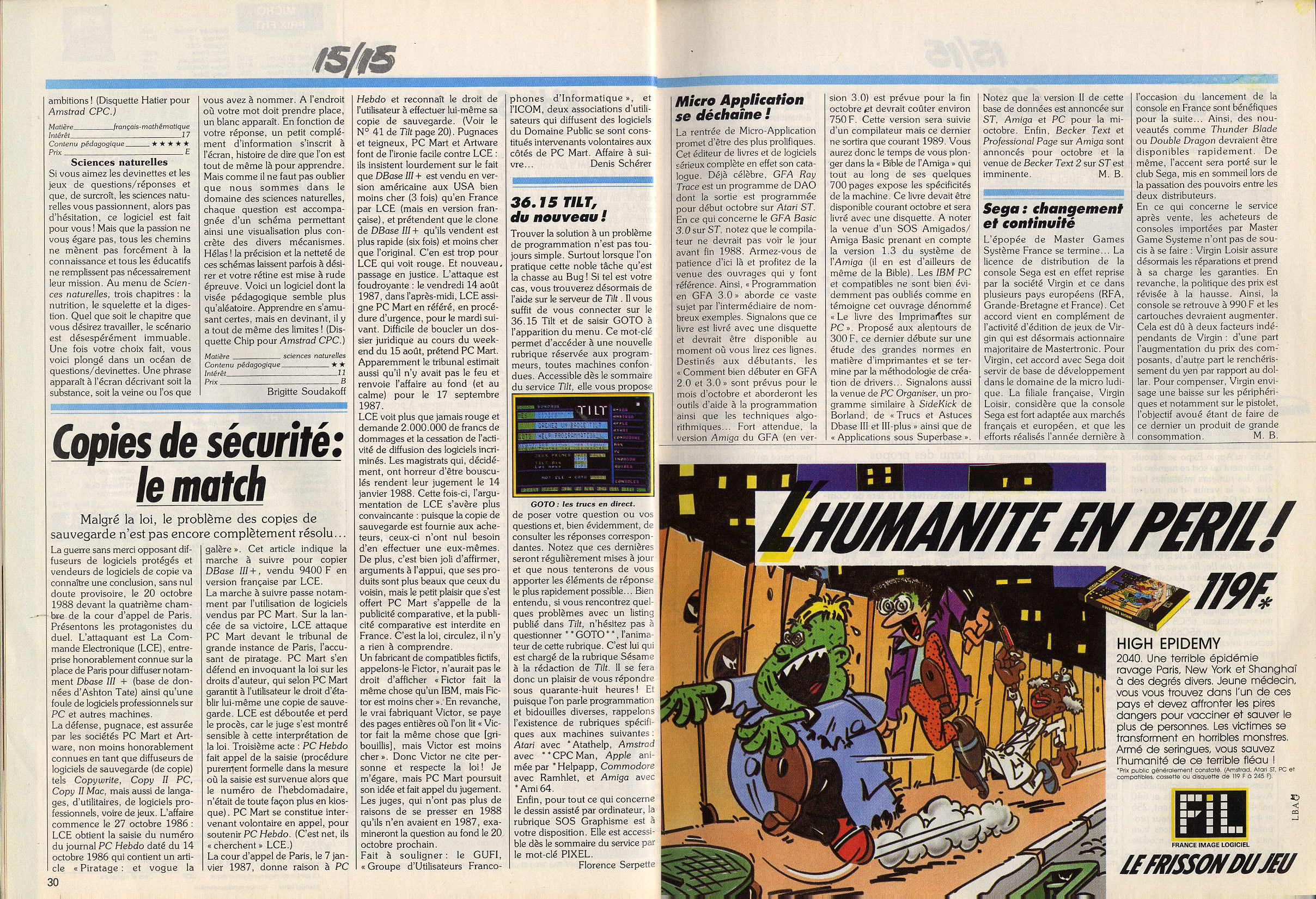 Tentative liste Line Up France Sega Master System printemps 87. - Page 3 TILT%20-%20N058%20-%20octobre%201988%20-%20page030%20et%20page031